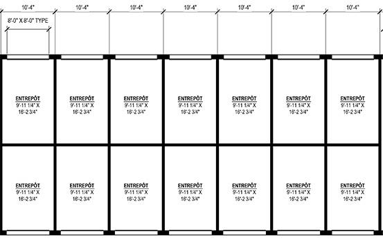 Dimension des entrepôts et mini-entrepôts